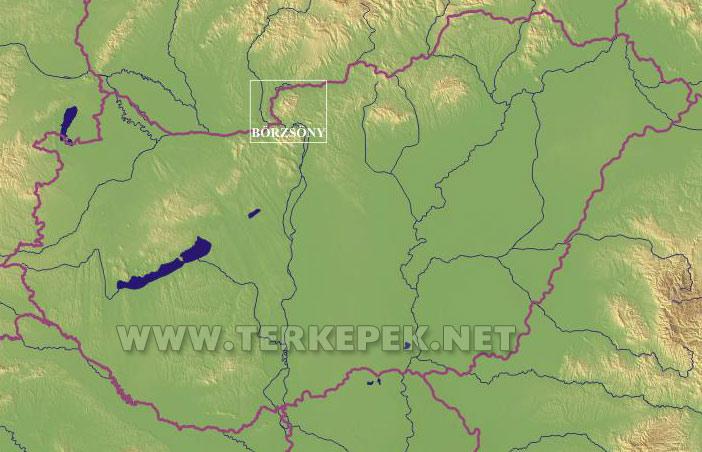 börzsöny térkép A Börzsöny elhelyezkedése Magyarország területén börzsöny térkép