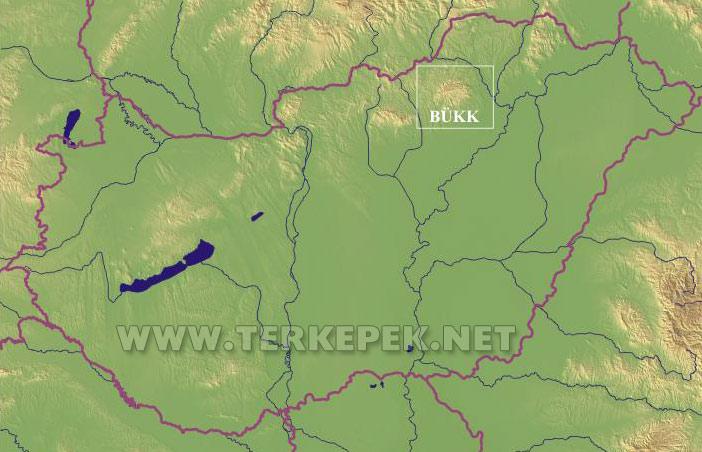 bükk térkép A Bükk elhelyezkedése Magyarország területén bükk térkép