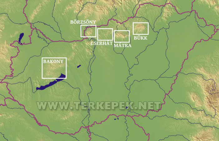 magyarország térkép bakony Turista térképek gyűjteménye magyarország térkép bakony